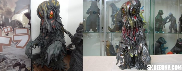 """As far as X-Plus 30cm Hedorah - It was put out in late March 2011. The figure is part of X-Plus's Toho 30cm scale line, but stands closer to around 14"" tall. It is made of a soft vinyl, except for the eyes which are a hard plastic. In my opinion, it's the best overall movie accurate Hedorah you can get in vinyl form in terms of paint and sculpt. Not to mention it's also one of the larger ones."" - B. D. Sharlow."