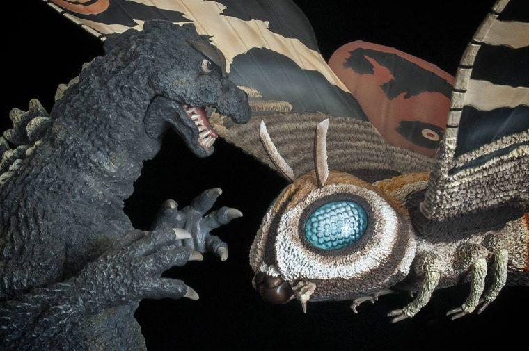 The X-Plus Godzilla '64 goes head to head with Mothra Imago.