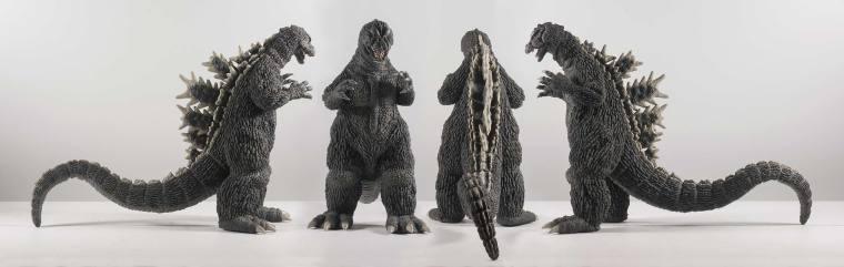 All four angles of the Godzilla 1964 Vinyl by X-Plus. Photo by John Stanowski.