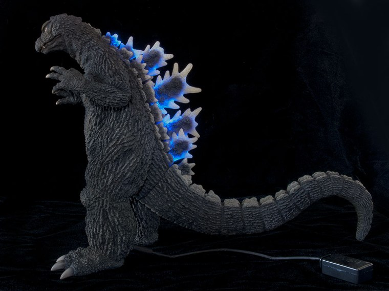 Godzilla '64 Ric Boy edition comes with light-up fins, by X-Plus.