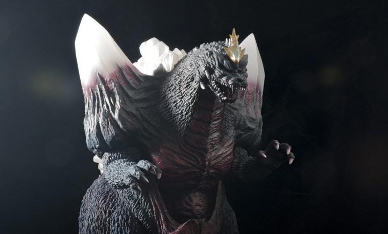 Kaiju Addicts - X-Plus Space Godzilla vinyl figure - med. shot.