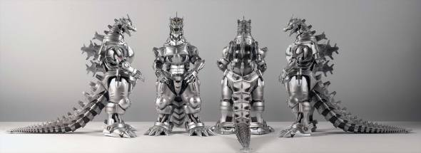 Kaiju Addicts - X-Plus Kiryu Vinyl Figure - All Angles.