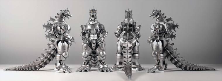 Kaiju Addicts - X-Plus Kiryu Vinyl Figure - All Angles.