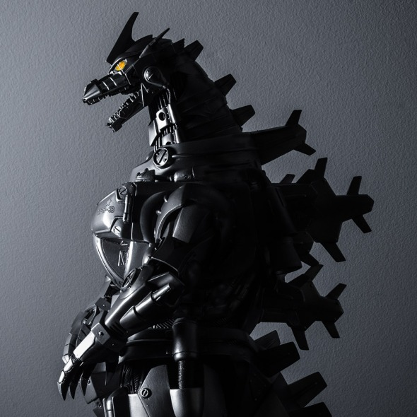 Kaiju Addicts - X-Plus Kiryu Vinyl Figure - Side Shadow.