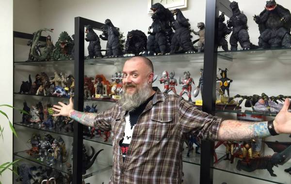 Kaiju Addicts - Kyle Yount at X-Plus headquarters in Osaka.
