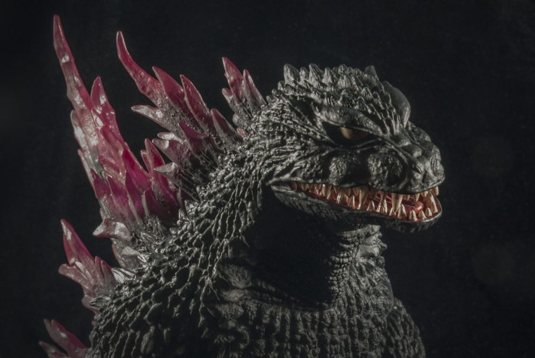 X-Plus Godzilla 1999 head shot. Photo by John Stanowski / Kaiju Addicts.
