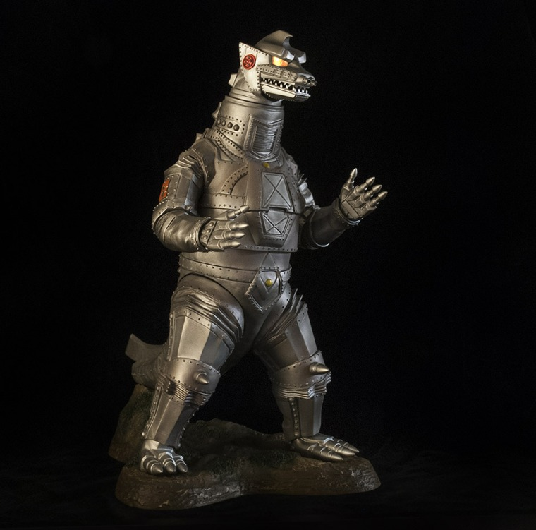 Mechagodzilla vinyl figure sweetened in Photoshop.