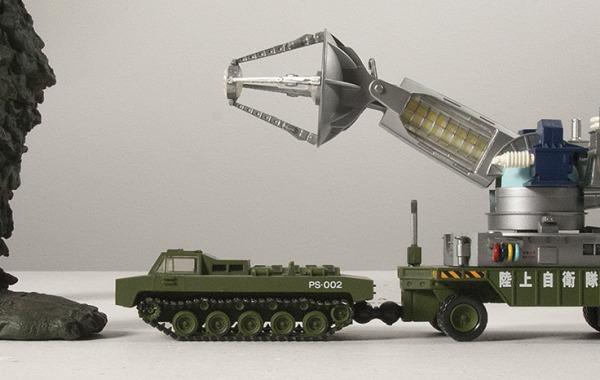 X-Plus Gaira foot with Revoltech Maser Tank.