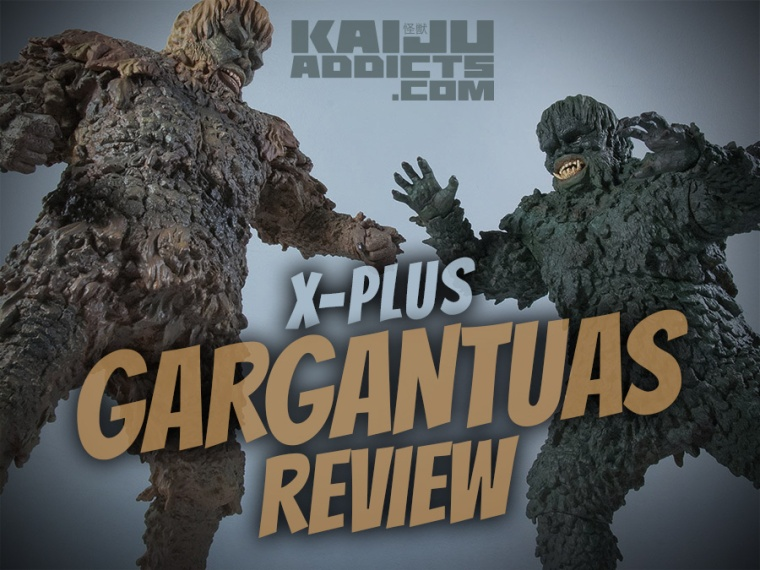 Kaiju Addicts X-Plus Sanda vs. Gaira vinyl figures review.
