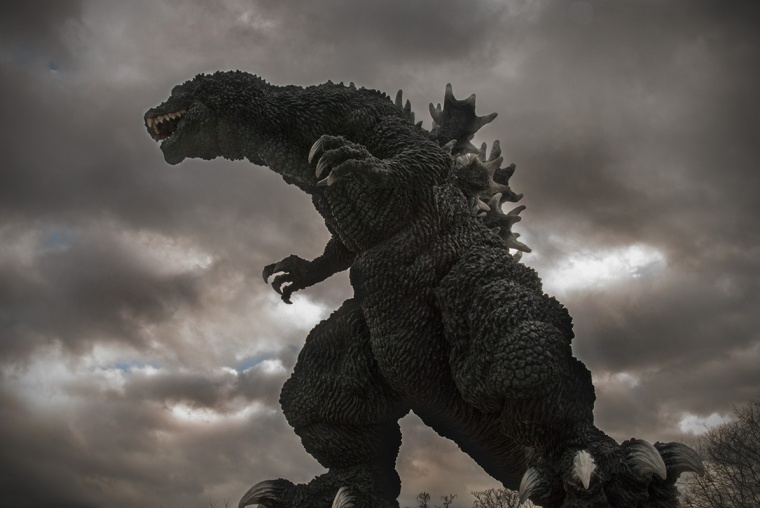 Kaiju Addicts: Photoshopped image of the X-Plus Gigantic Series Godzilla 2001.