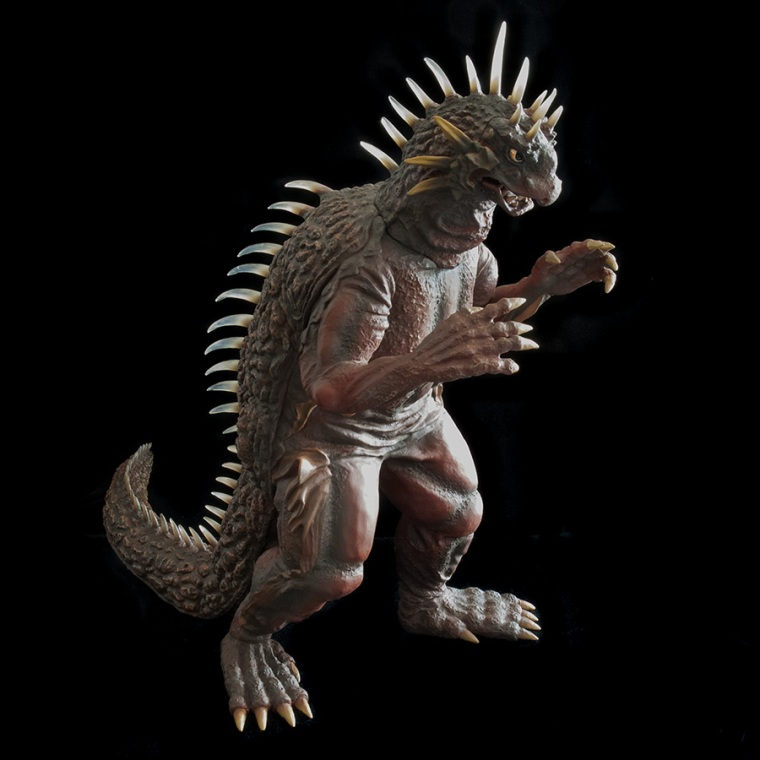 KaijuAddicts - X-Plus Toho 12-inch Series Varan 1958 Vinyl Figure. Full body shot.