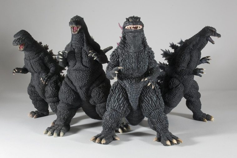 30cm Series Godzilla's 1984, 1992, 1999 and 2004 are getting re-issued in the U.S. and Canada.