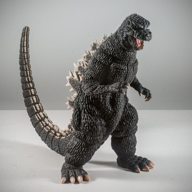 Toho 30cm Series Godzilla 1984 vinyl figure. Photo by John Stanowski / Kaiju Addicts.