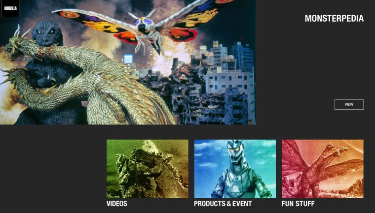All the Godzilla's monsters are listed in detail.